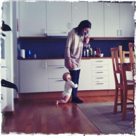 Theo tycker om sin mamma
